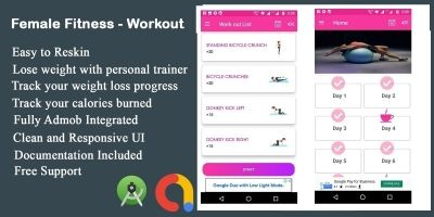 Female Home Fitness - Android App Template