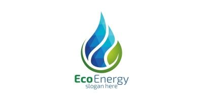 Natural Green Tree Logo With Ecology Leaf Design 2