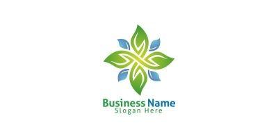 Natural Green Tree Logo with Ecology Leaf Design 6