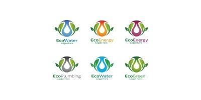 Natural Green Tree Logo with Ecology Leaf Design 7