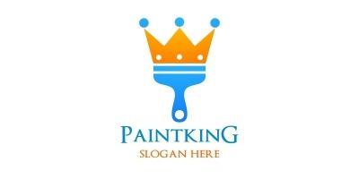 Paint King Vector Logo Design
