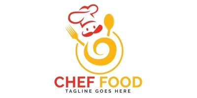 Chef Food Logo Design.