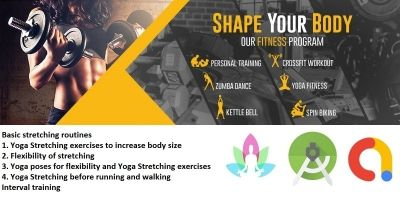 Yoga And Exercise Fitness Android Template