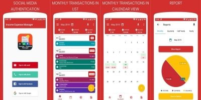 Daily Income Expense Manager Android App Template