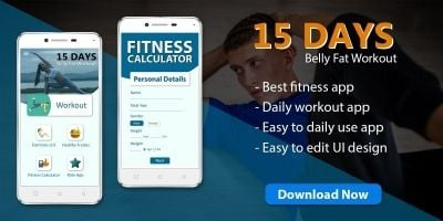 15 Days Belly Fat Workout - Android App Template