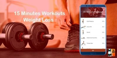 15 Minutes Workout -  Android Studio Code