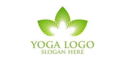 Yoga and Lotus Logo 1