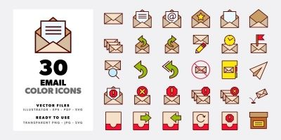 Email Color Icon Set