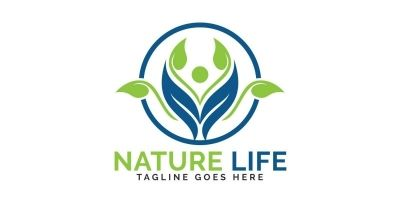 Nature Life Logo Design.