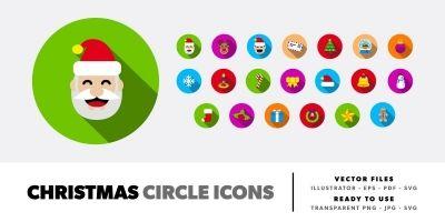 Christmas Circle  Icons