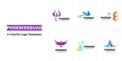 PhoenixSquad - 6 Colorful Logo Templates
