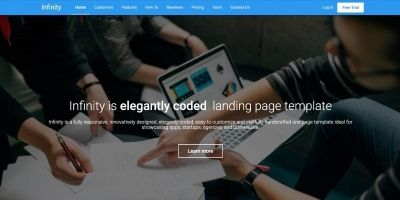 Infinity - Landing Page Template