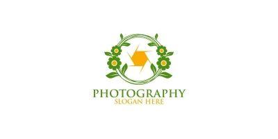 Nature wedding Camera Photography Logo