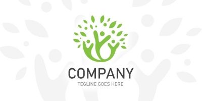 People Tree Logo Template
