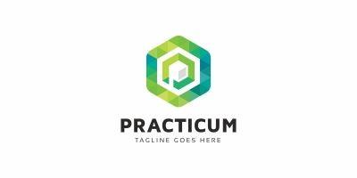 Practicum P Letter Logo