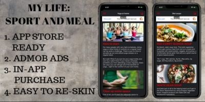 My Life Sport And Meal - iOS App Template