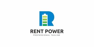 Rent Power R Letter Logo