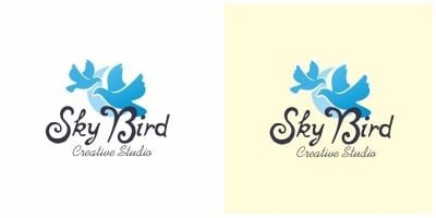 Sky Bird Dove Logo