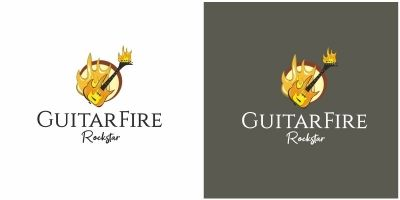 Guitar Fire Logo