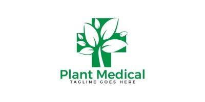 Plant Medical Logo Design