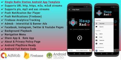 Universal Single Radio Android App Source Code
