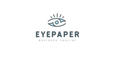 Eye Paper Logo Template