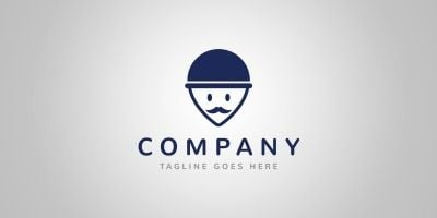 Gentleman Locator Logo Template