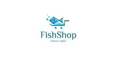 Fish Shop Logo Template