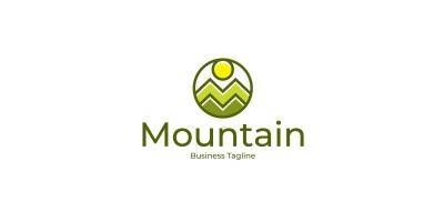 Nature Mountain Logo Template