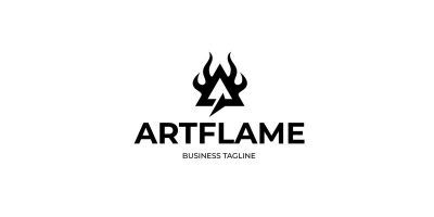 Art Flame - Letter A Logo Template