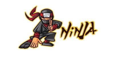 Ninja Game and Sport logo Design Template
