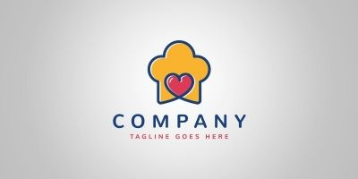 Love Cooking Logo Template