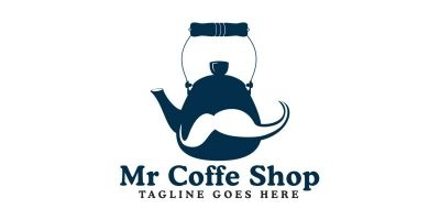 Mr Coffee Shop Logo Design