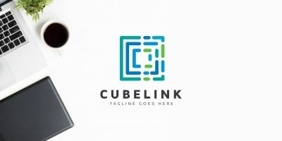 Cube Hexagon Moving Logo