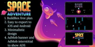 Space Adventure - Buildbox Game Template