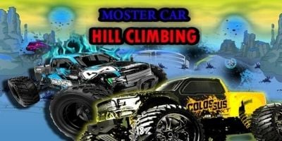 Monster Car Hill Climbing Unity Game