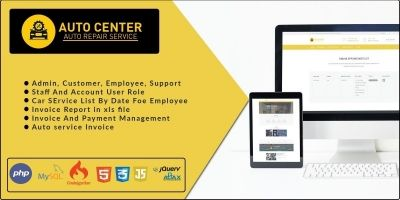 Auto Center - Garage Management Software PHP