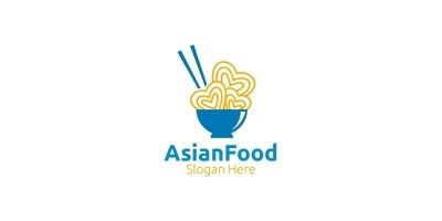 Asia Food Logo For Nutrition Or Supplement Concept