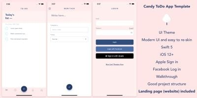 Candy ToDo - iOS Template App