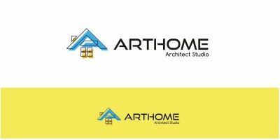 Art Home Letter A Logo