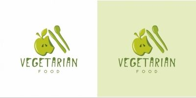 Vegetarian Food Logo