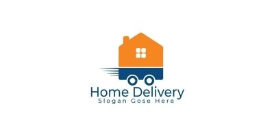 Home Delivery Logo Design.