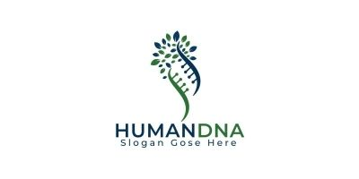 Human DNA Logo Design