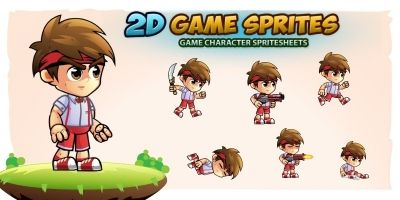 Jovi 2D Game Character Sprites