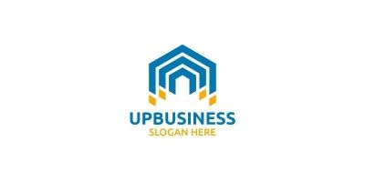 Up Arrow Digital Marketing Financial Logo