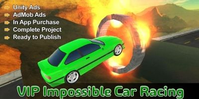 VIP Impossible Car Racing  - Unity Project Game