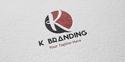 K letter Circle logo