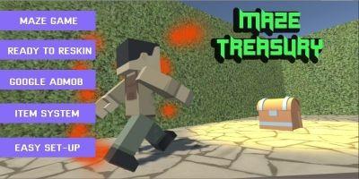 Random Generated Maze Treasury - Unity Template