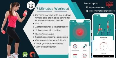 7 Minutes Workout With Admob - Android Template