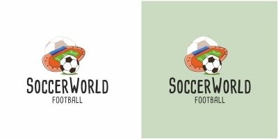Soccer World Football Logo